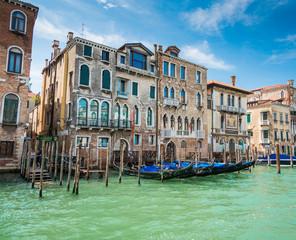 Foto op Canvas Gondolas venezia