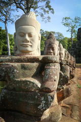 Giant faces in Angkor Wat, Cambodia