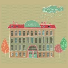 illustrated School building