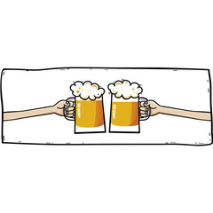 Beer 2. Vector illustration