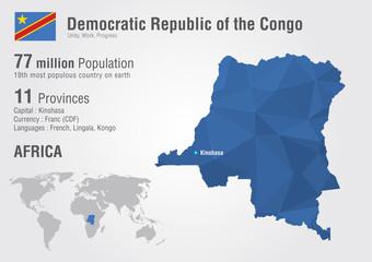 Wall Mural - Congo, Democratic Republic of the Congo world map.
