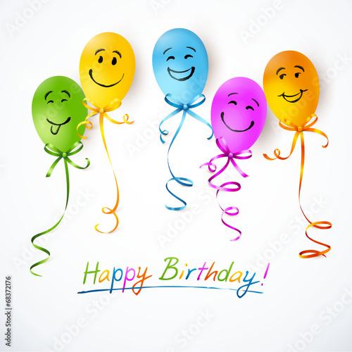 happy birthday luftballons smileys stockfotos und lizenzfreie vektoren auf. Black Bedroom Furniture Sets. Home Design Ideas