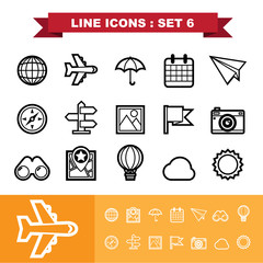 Line icons set 6