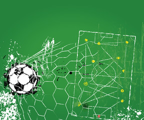 Soccer or football design template, free copy space, vector
