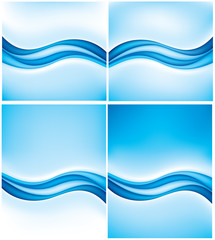 abstract background blue waves