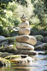 Fototapete - Galet et équilibre