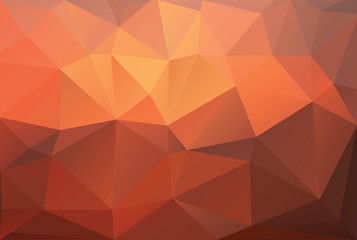 Fire triangle polygonal background