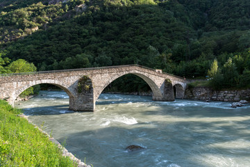 Stone bridge over the Dora Baltea River, Echallod, near Issogne