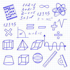 "drawing in a notebook ""mathematics"""