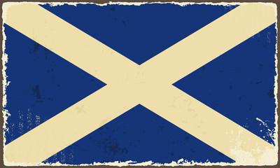Scottish grunge flag. Vector illustration