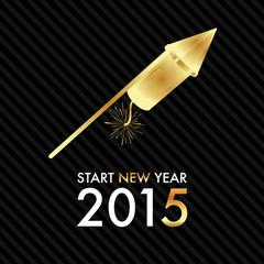 Silvester 2015 - Golden Rocket - Start new year