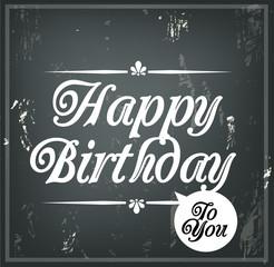 Happy Birthday to you retro typographic post card