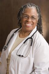 Portrait of female doctor smiling