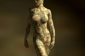 Yellowish bodypainting