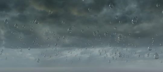 Cielo nuvolo temporale formazione pioggia goccia