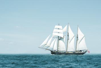 Türaufkleber Schiff Three mast schooner