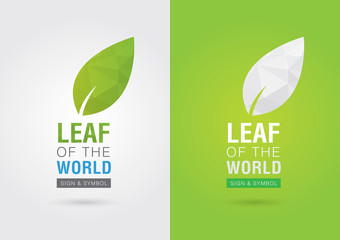 Wall Mural - Leaf of the world. Eco volunteer icon. For green business soluti