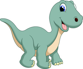 Cute  diplodocus cartoon
