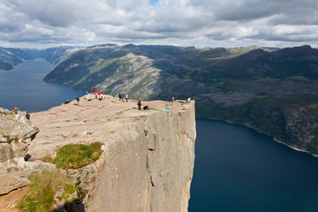 Wall Murals Northern Europe Pulpit Rock at Lysefjorden (Norway)