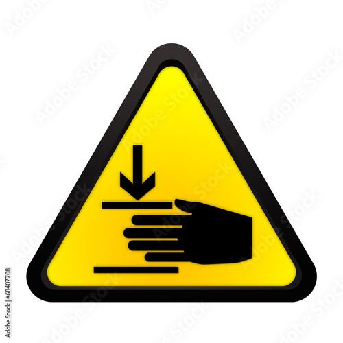 Warnhinweis Handverletzung\