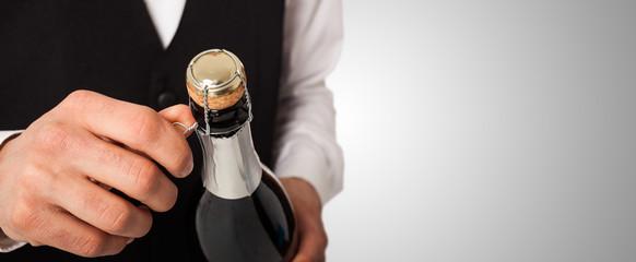 Champagne bottle, celebration concept