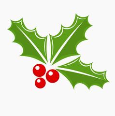 Holly berry Christmas symbol