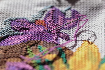 Needle embroidery