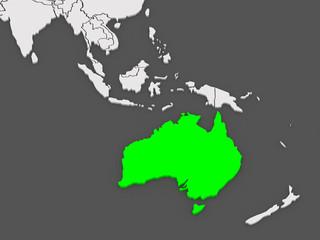 Map of worlds. Australia.