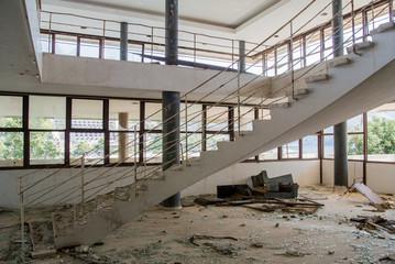 Abandoned hotel after war in Croatia