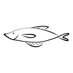 vector hand drawing icon fish