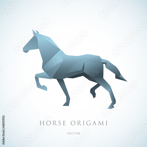Horse Origami Logo Stock Image And Royalty Free Vector Files On