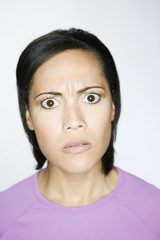 African American woman looking angry