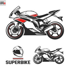Sport superbike custom motorcycle