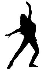 Dancing girl in black