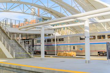 Aluminium Prints Train Station Union Station in Denver Colorado