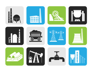 Silhouette Heavy industry icons