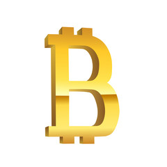 Bitcoin golden currency symbol