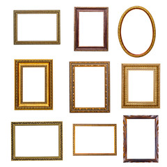 set of vintage frames in retro style