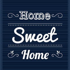 Decorative frame with slogan Home Sweet Home