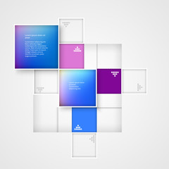 Abstract template squares