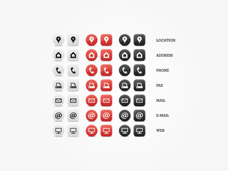Multipurpose Business Card Icon Set of web icons for business
