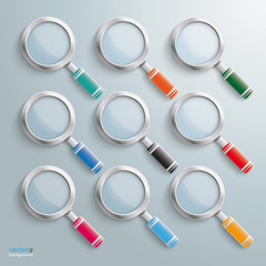 Colored Loupe Set