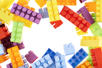 Colorful toy construction bricks