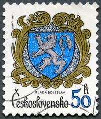 CZECHOSLOVAKIA - 1982: shows arms of Mlada Boleslav
