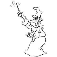 zauberer Zauberstab witzig hut