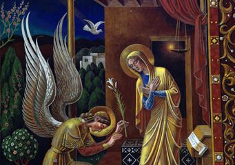 Fototapete - Annunciation (mural)