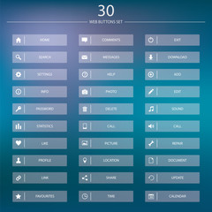 Vector Web Buttons Collection