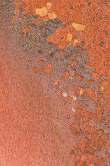 Textured rusty metal weathered and worn abstract background