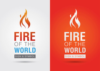 Fire of the world sign icon symbol info graphic. Creative market