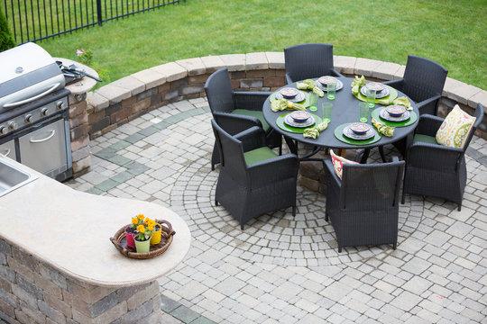 Elegant outdoor living space